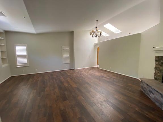unfinished living room